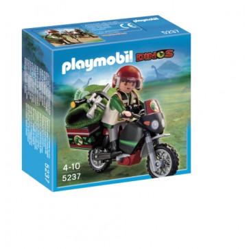 Explorator cu motocicleta, PLAYMOBIL Dinos