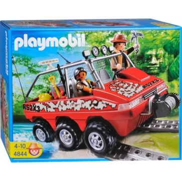 Masina amfibie a vanatorilor de comori, PLAYMOBIL Treasure Hunters