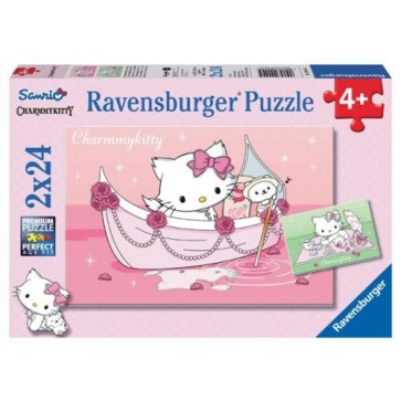 Puzzle Hello Kity, 2x24 piese, RAVENSBURGER