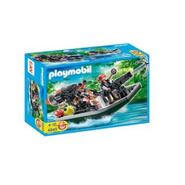 Barca cu tun a vanatorlor de comori, PLAYMOBIL Pirates