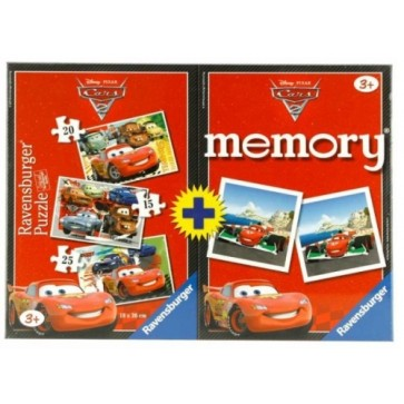 Puzzle memory Disney Cars, 3 buc., 15/20/25 piese, RAVENSBURGER