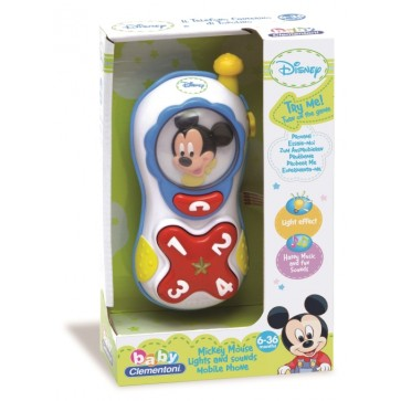 Telefon Mickey Mouse, CLEMENTONI Disney Baby
