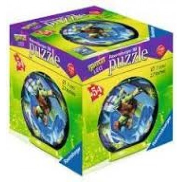 Puzzle 3D Testoasele Ninja, 54 piese, RAVENSBURGER Puzzle 3D