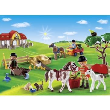 Calendar Craciun - Ferma poneilor, PLAYMOBIL Christmas