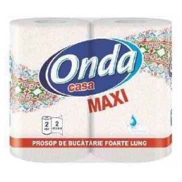 Prosop din hartie, 35.00m, 2 role, ONDA Casa Maxi