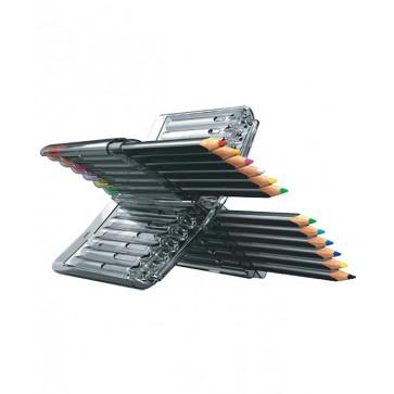 Creioane colorate, cutie tip suport, 12 culori/set, PIGNA Y-Plus