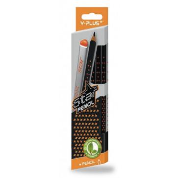 Creioane cu mina grafit, HB, 12 buc./set, PIGNA Star Y-Plus+