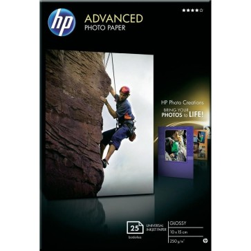 Hartie foto HP Advanced Inkjet, 10 x 15cm, 250 g/mp, 25 coli/top, lucios
