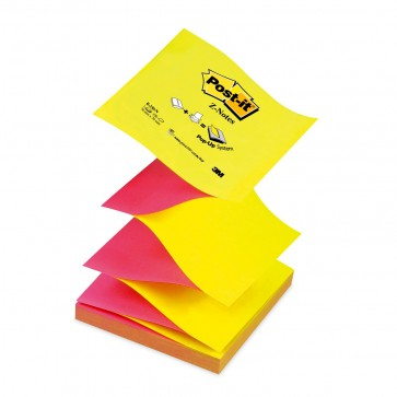 Notes autoadeziv, 76 x 76mm, 100 file/set, galben/roz intens, POST-IT Z-Notes R330-NA