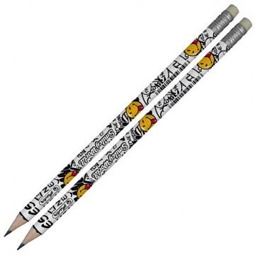 Creion cu mina grafit, HB, 2 buc/set, HERLITZ Smiley World Rock