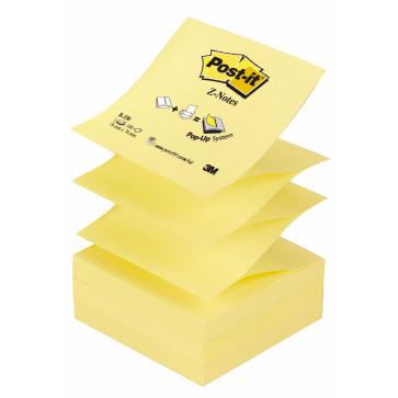 Notes autoadeziv, 76 x 76mm, 100 file/set, galben clasic, POST-IT Z-Notes R330