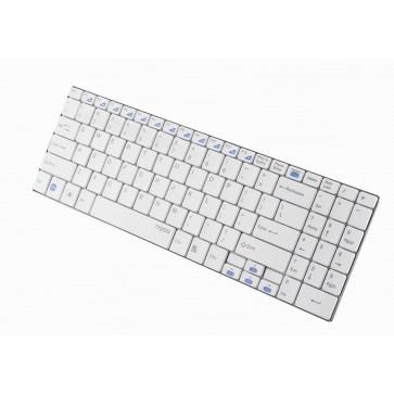 Tastatura wireless ultra-slim, alba, RAPOO E9070