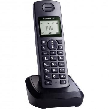 Telefon DECT SAGEMCOM D1110, negru, fara fir