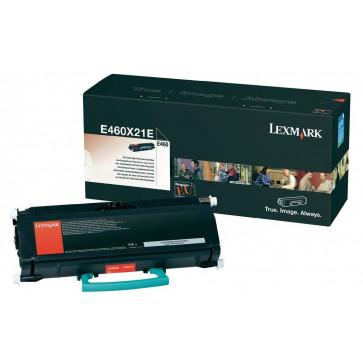 Toner, black, LEXMARK E460X21E