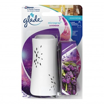 Odorizant de baie GLADE Microspray + Rezerva Lavender, 10 ml