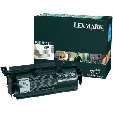 Toner, black, LEXMARK X651H11E