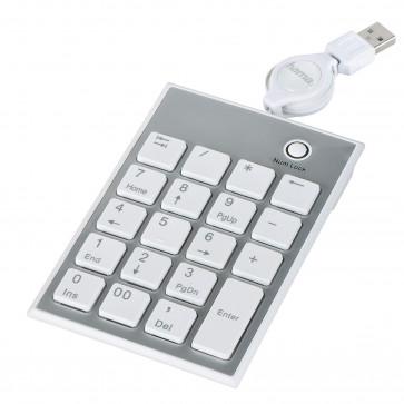 Tastatura numerica slim, alb, HAMA SK140