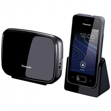 Telefon DECT PANASONIC Premium KX-PRX150FXB, negru, fara fir, Android 4.0.4
