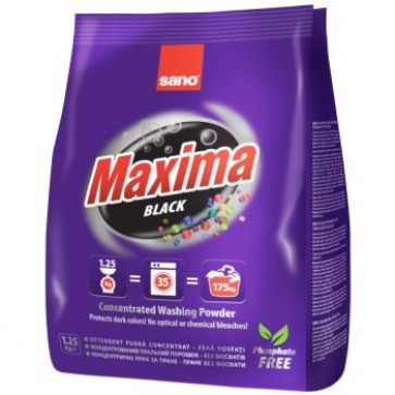 Detergent praf pentru tesaturi, 1.25 Kg, SANO Maxima Black