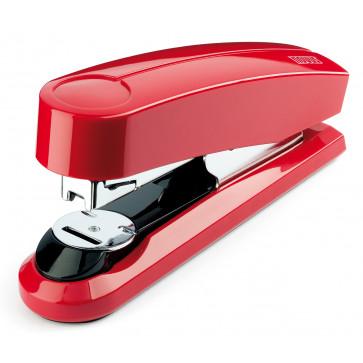 Capsator de birou metalic, pentru maxim 50 coli, capse 24/6, rosu, NOVUS B4FC