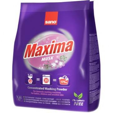Detergent praf pentru tesaturi, 1.25 Kg, SANO Maxima Musk