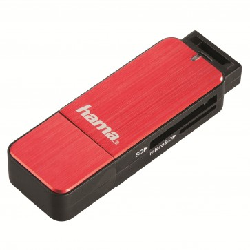Card reader SD/micro SD, USB 3.0, rosu, HAMA