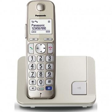 Telefon DECT PANASONIC KX-TGE210FXN, argintiu, fara fir