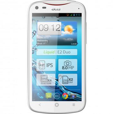 Smartphone, dual-sim, 4GB, alb, ACER Liquid E2