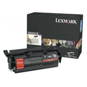 Toner, black, LEXMARK T654X21E