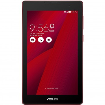 "Tableta ASUS ZenPad C 7.0 Z170C, 7"" IPS MultiTouch, Intel SoFIA 1.30GHz Quad Core, 1GB RAM, 16GB flash, Wi-Fi, Bluetooth, GPS, Android 5.0, Red"