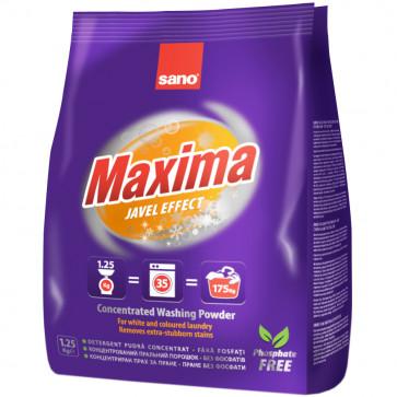 Detergent praf pentru tesaturi, 1.25 Kg, SANO Maxima Javel