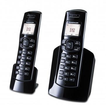 Telefon DECT SAGEMCOM D150 Duo, negru, fara fir