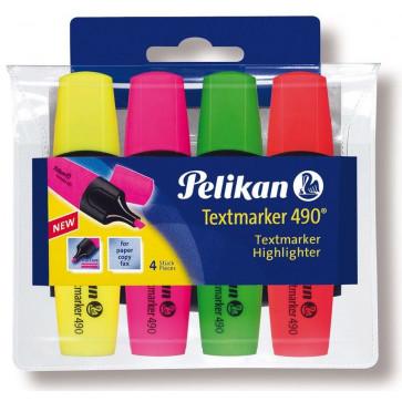 Textmarker, 4 culori/set, PELIKAN 490