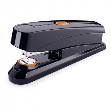 Capsator de birou cu capsare plata, pentru maxim 50 coli, capse 24/8, negru, NOVUS B 8 FC