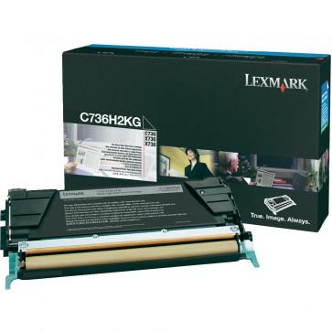 Toner, black, LEXMARK C736H2KG
