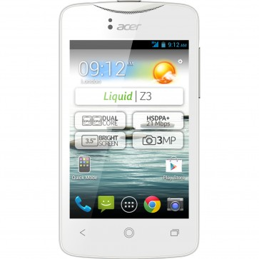 "Smartphone Dual Sim ACER Liquid Z3, 3.5"", 3.15MP, 4GB, White"