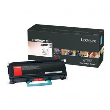 Toner, black, LEXMARK E260A21E