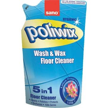 Rezerva detergent lichid pentru pardoseli, 1 L, SANO Poliwix Lotus