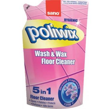 Rezerva detergent pardoseli, 1L, SANO Poliwix Orchid