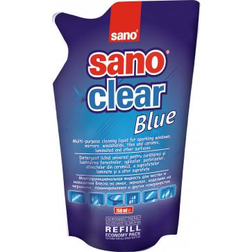 Rezerva detergent pentru geamuri, 750 ml, SANO Clear Blue