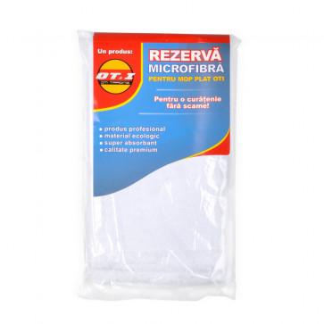 Rezerva mop plat, microfibra, alb, OTI