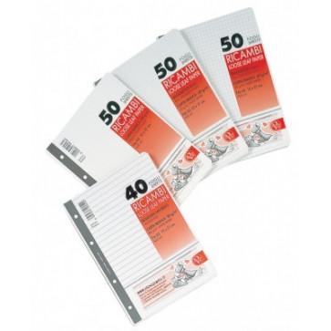 Rezerve pt. caiet mecanic, A5, 50 file/set, matematica, PIGNA