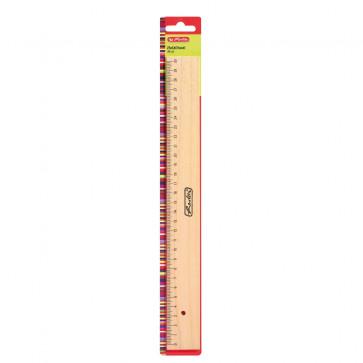 Rigla din lemn, 30cm, HERLITZ