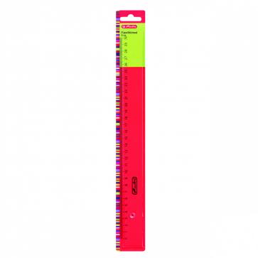 Rigla plastic, 30cm, HERLITZ