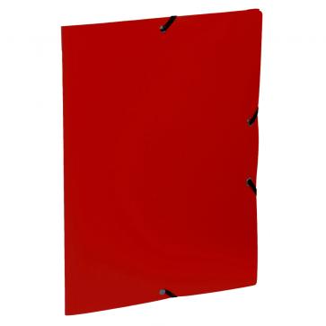 Mapa din plastic, A4, rosu, cu elastic, VIQUEL Rabats