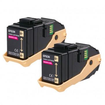 Toner, double pack, magenta, EPSON C13S050607