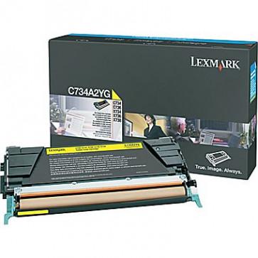 Toner, yellow, LEXMARK C734A2YG