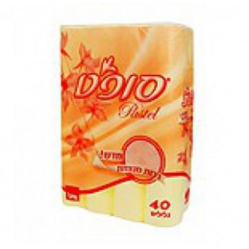 Hartie igienica, 2 straturi, galben, 40 role/set, SANO Pastel Yellow