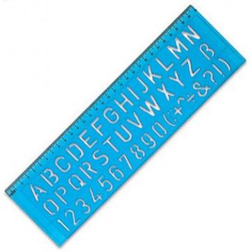 Sablon pt. litere drepte, 20mm, RIO