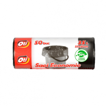 Saci menaj, 35L, 50 bucrola, 50x60 cm, negru, OTI Economic